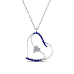 S With Heart Design Necklace