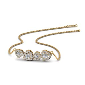 1.65 Carat Diamond Pendant 18K Gold