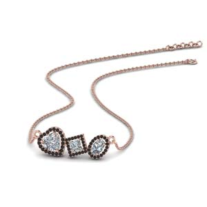 Fancy Diamond Halo Necklace