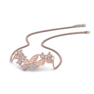 Diamond Bird Design Pendant