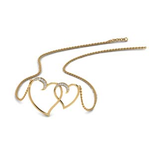 Dual Heart Interlocked Pendant