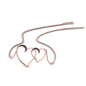 Heart Interlocked Pendant For Her