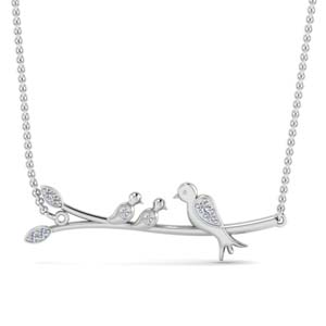 Branch Bird Diamond Necklace