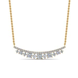 Curved Diamond Necklace