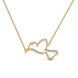 Bird Diamond Pendant Gold