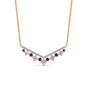 Pink Sapphire Necklace Gold