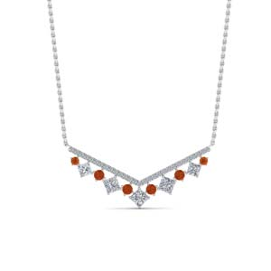 0.75 Ct. Diamond V Necklace
