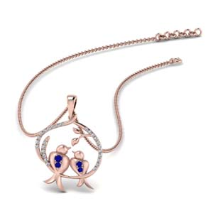 Diamond And Sapphire Necklace