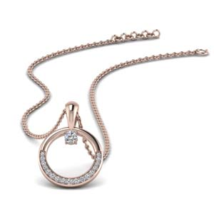 Diamond Circle Pendant For Her