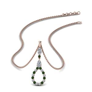 Emerald Drop Pendant Necklace
