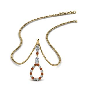 Teardrop Gemstone Drop Pendant