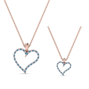Topaz Heart Necklace For Mom Daughter