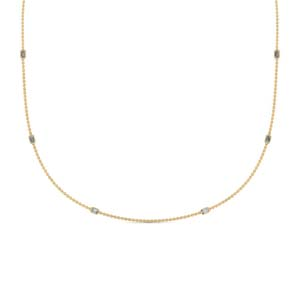 Gold Diamond Station Necklace