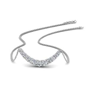 Smile Graduated Diamond Necklace