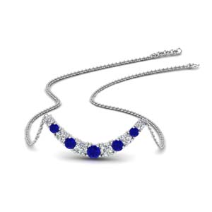 Sapphire Smile Necklace