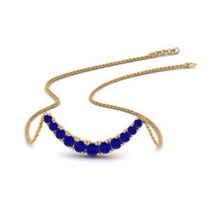 Smile Necklace With Sapphire