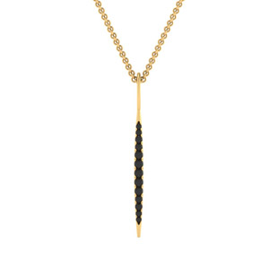Classic Black Diamond Yellow Gold Pendant