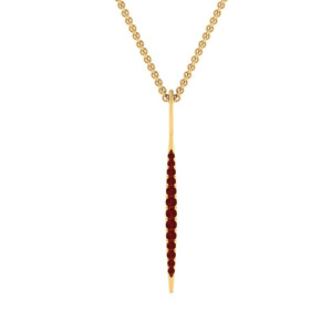 Graduated Ruby Bar Pendant