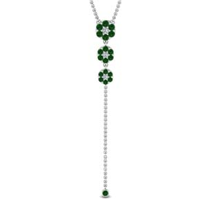 Cluster Graduated Emerald Drop Pendant