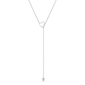 Lariat Heart Drop Necklace