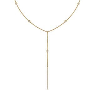 Diamond Station Lariat Necklace