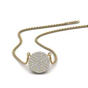 10 mm Diamond Disc Pendant