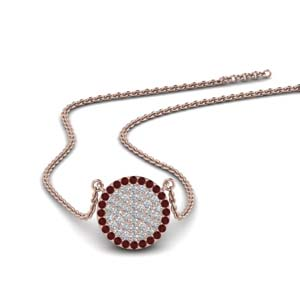 Diamond Pendants With Ruby