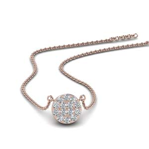 Flat Disc Diamond Pendant