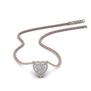 Pressure Set Diamond Necklace