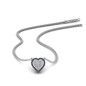 Platinum Invisible Heart Pendant
