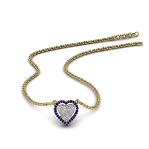 Sapphire Invisible Set Necklace