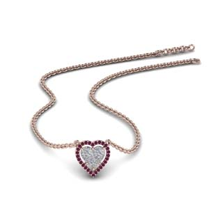 Heart Halo Pendant Necklace
