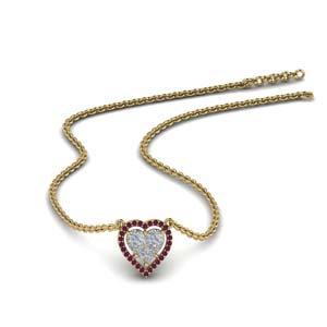Gold Heart Halo Pendant