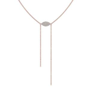Diamond Marquise Lariat Necklace