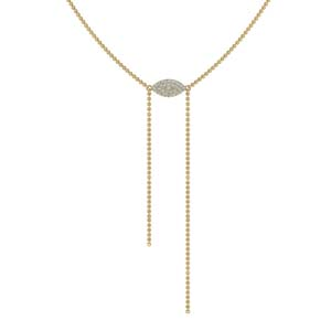 Marquise Lariat Necklace