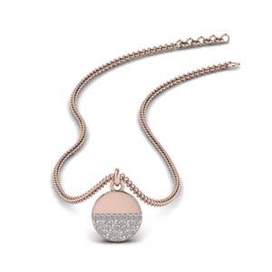 Disc Diamond Necklaces