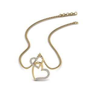 Diamond Interlocked Heart Pendant
