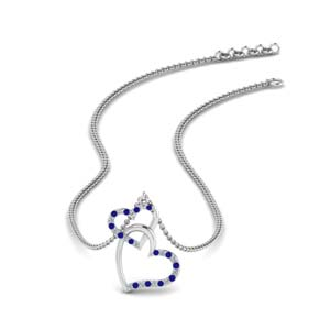 Interlocked Heart Necklace
