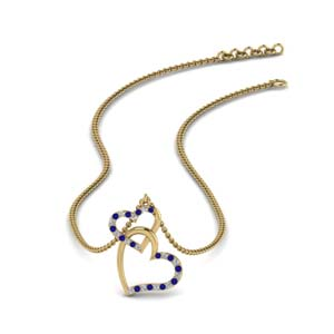 Heart Interlocked Pendant Necklace