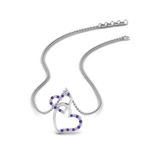 Double Heart Interlocked Pendant