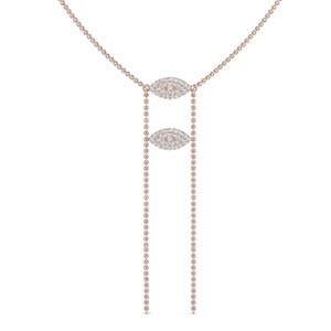 14K Rose Gold Double Marquise Necklace