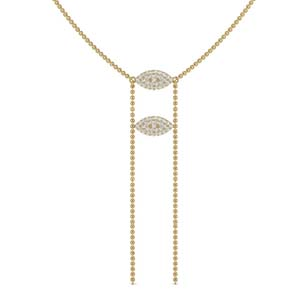 18K Gold Double Marquise Necklace