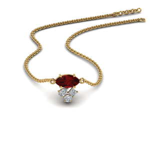 marquise-cluster-diamond-pendant-with-ruby-in-FDPD9282GRUDR-NL-YG