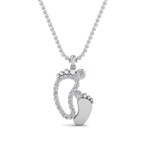Baby Foot Diamond Pendant