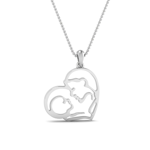 Mother And Son Pendant Heart