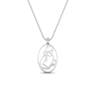 Platinum Baby And Mom Pendant