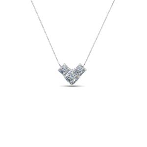3 Stone Diamond Fancy Pendant