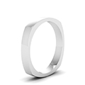 light weight square 4 mm mens band in FDSQR7BANGLE2 4MM NL WG