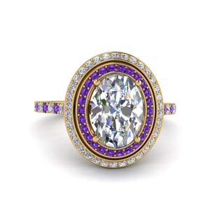 Purple Topaz Engagement Ring 2.50 Ctw.