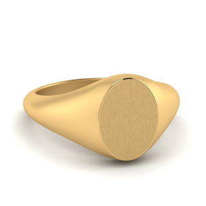 Gold Pinky Oval Signet Ring